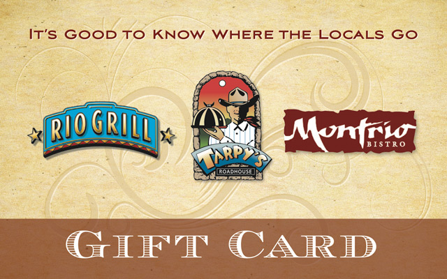 Gift a night out at Tarpys Roadhouse
