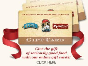 fine dining gift card - montrio bistro